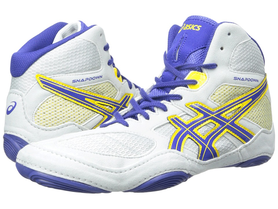 ASICS - Snapdown (Grey/True Blue/Sunflower Yellow) Men's Wrestling Shoes