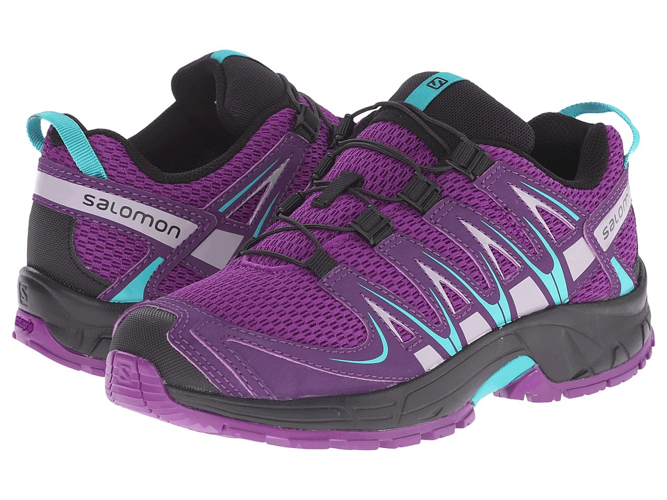 Salomon Kids - Xa Pro 3D (Little Kid/Big Kid) (Passion Purple/Cosmic Purple/Teal Blue F) Girls Shoes