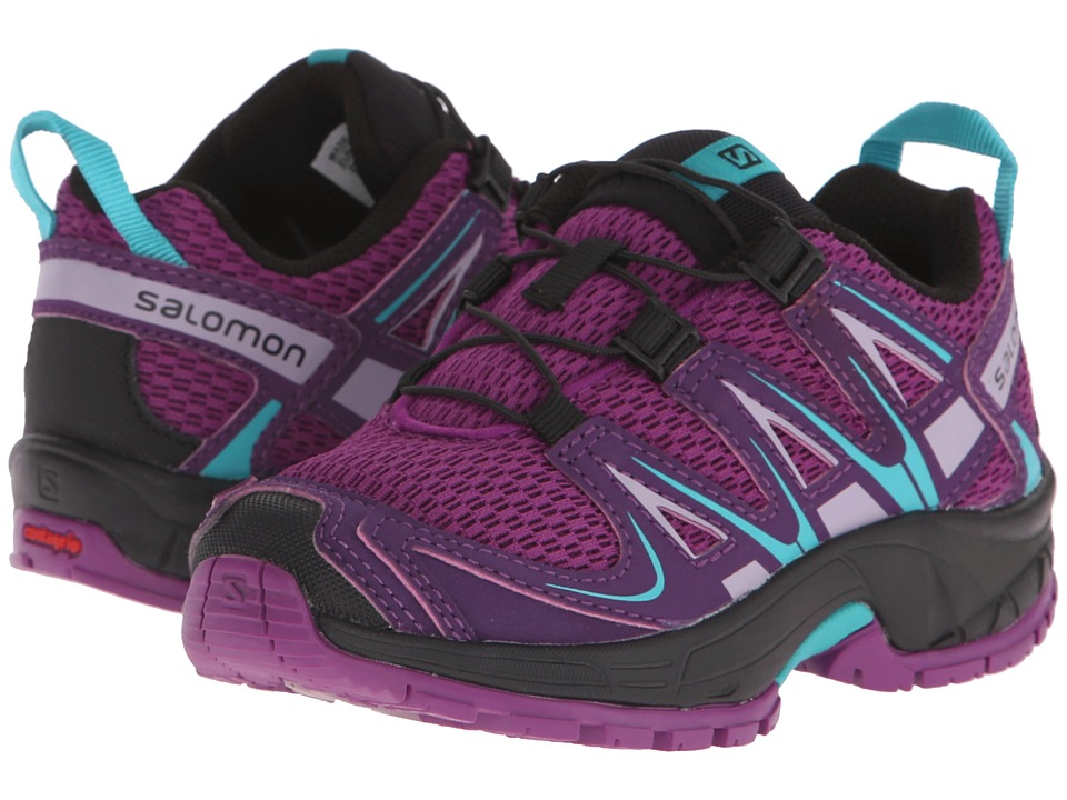 Salomon Kids - Xa Pro 3D (Toddler/Little Kid) (Passion Purple/Cosmic Purple/Teal Blue F) Girls Shoes