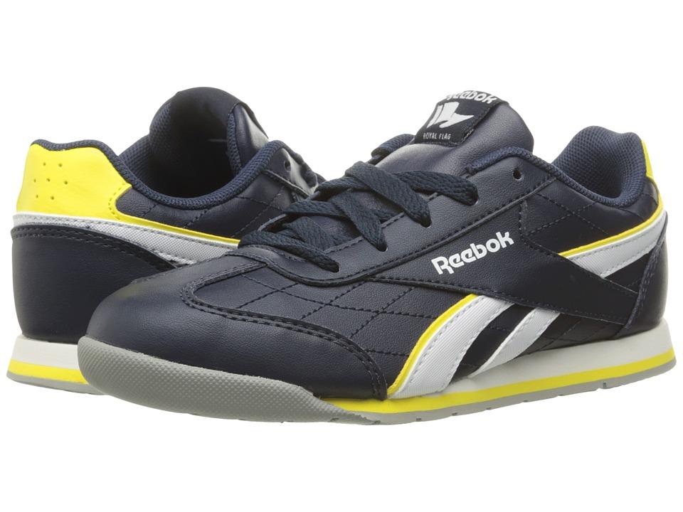 Reebok Kids - Royal Attack (Little Kid/Big Kid) (Faux Indigo/Stinger Yellow/White/Flat Grey) Boys Shoes