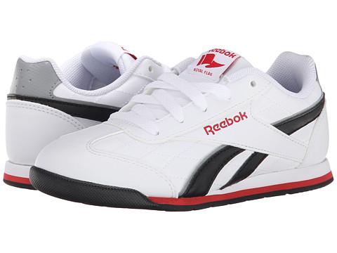 Reebok Kids - Royal Attack (Little Kid/Big Kid) (White/Black/Red Rush/Flat Grey) Boys Shoes