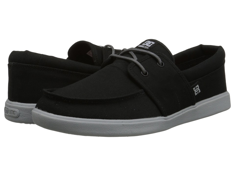 DC - Hampton (Black/Grey) Men's Skate Shoes