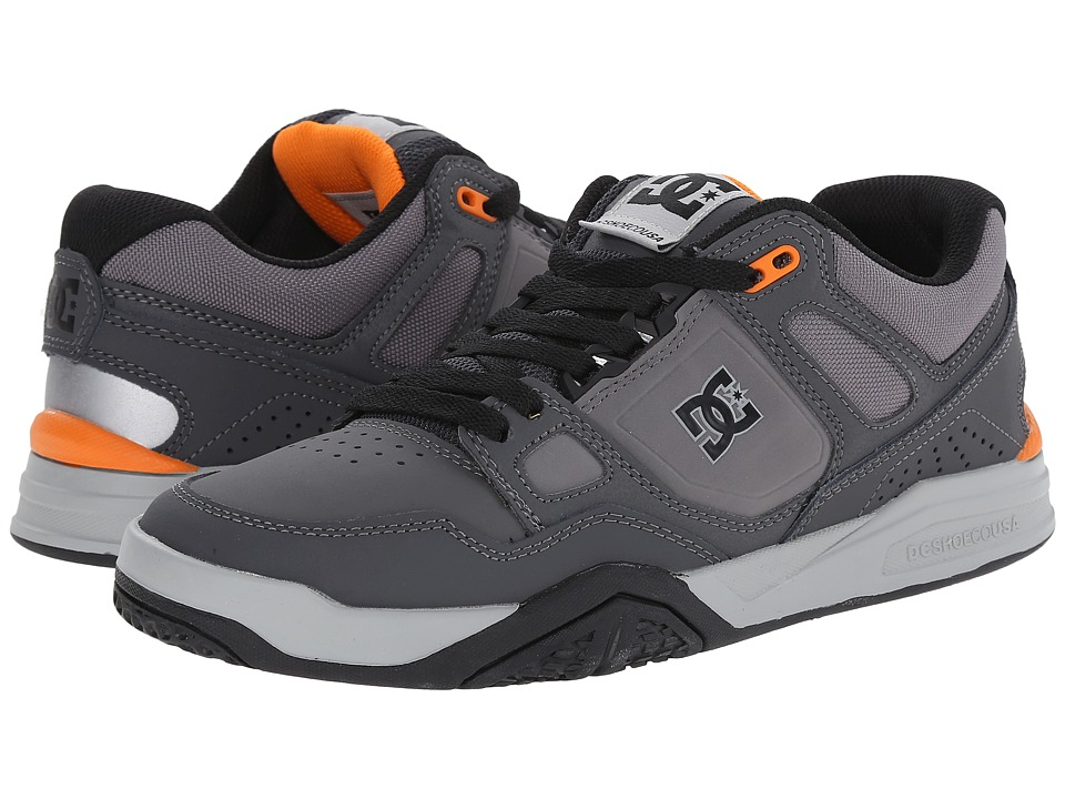 DC - Stag 2 (Grey/Grey/Orange) Men's Skate Shoes