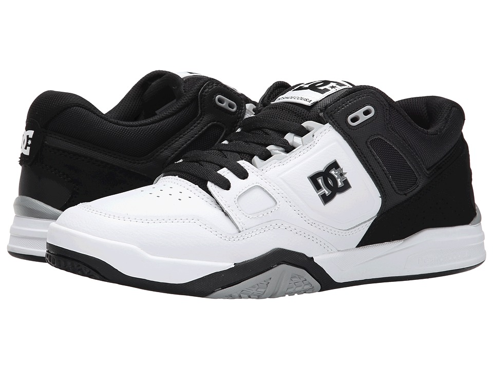 DC - Stag 2 (White/Black/Armor) Men's Skate Shoes