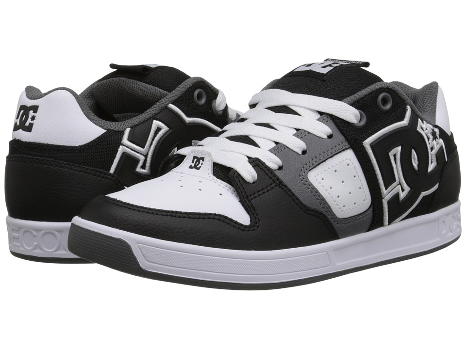 DC - Sceptor (Black/White/Grey) Men's Skate Shoes