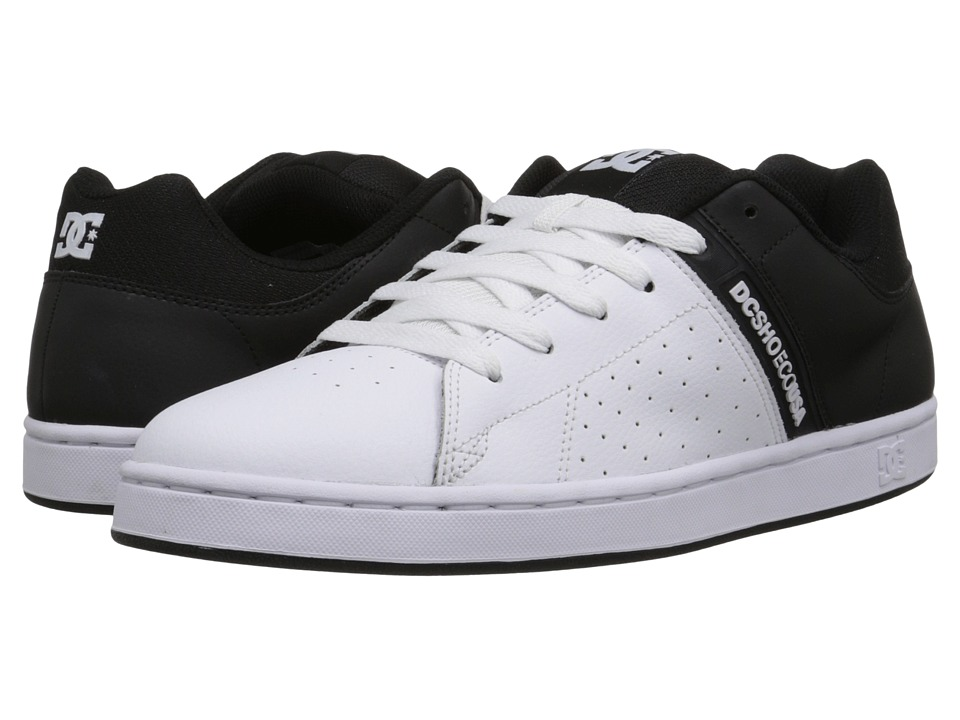 DC - Wage (Black/White) Men's Skate Shoes