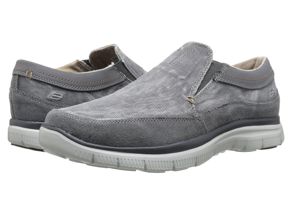 SKECHERS Relaxed Fit Hinton Olmos (Charcoal) Men