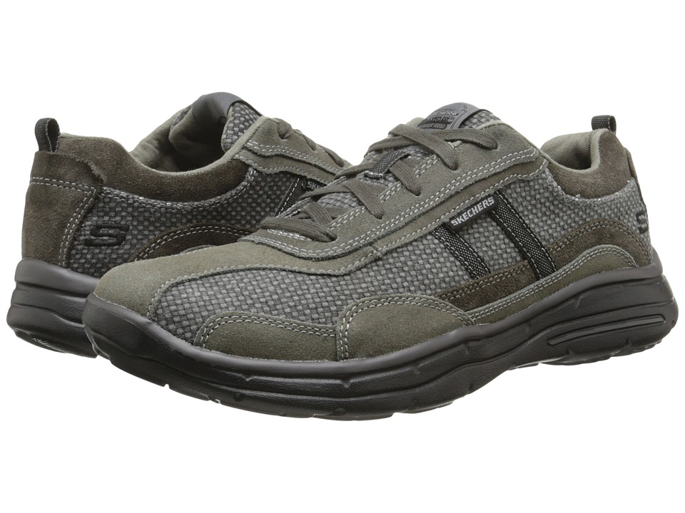 UPC 889110014233 product image for SKECHERS  Relaxed Fit Glides  Status  Charcoal Mens