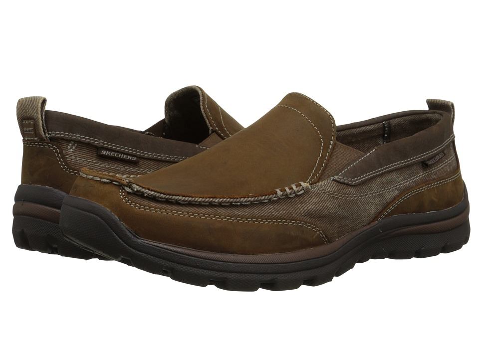 SKECHERS - Relaxed Fit Superior - Dimos (Dark Brown) Men's Slip on Shoes