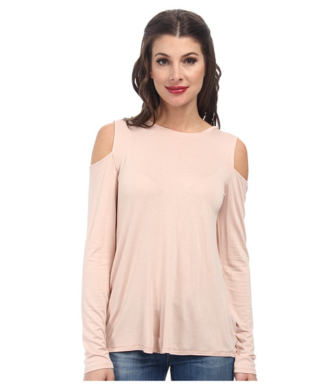 BCBGMAXAZRIA - Jinelle Knit Top (Bare Pink) Women's Long Sleeve Pullover