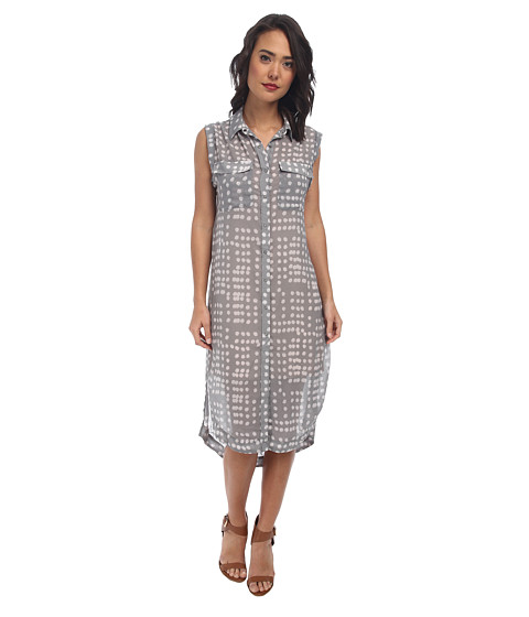 Free People - Printed Check Chiffon Mercer Street Maxi (Smoke Combo) Women