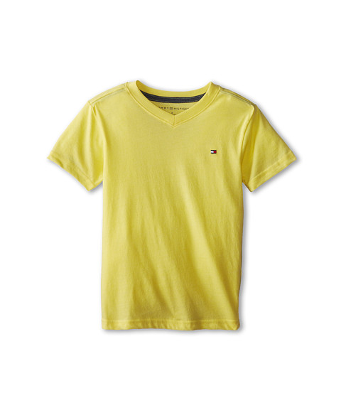 Tommy Hilfiger Kids - Tommy CVC V-Neck Tee (Toddler/Little Kid) (Vitamin C) Boy