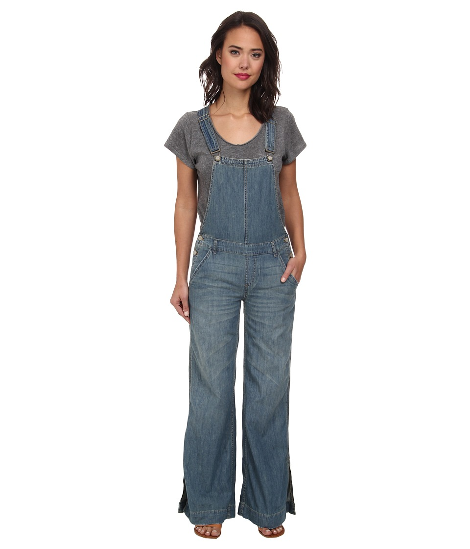 Free People - Washed Chambray D Ring Back Overall in Bee Wash (Bee Wash) Women's Overalls One Piece