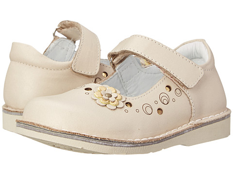 Kid Express - Edith (Toddler/Little Kid/Big Kid) (Ivory Leather) Girl's Shoes