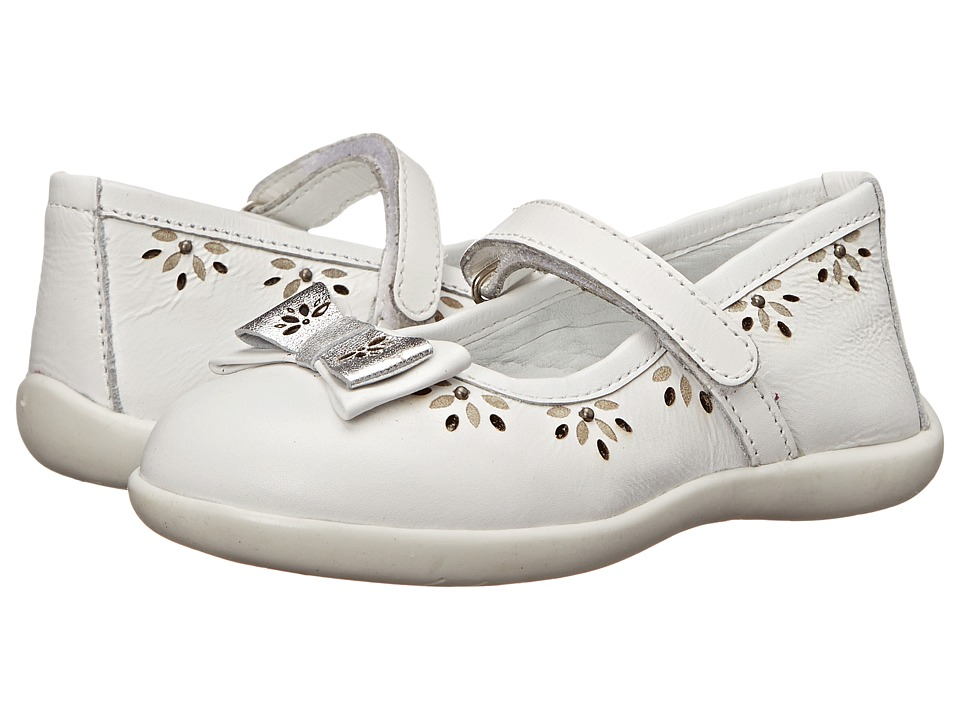 Kid Express - Layla (Toddler/Little Kid/Big Kid) (White Leather) Girl's Shoes