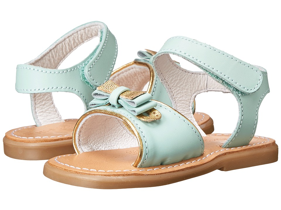 Kid Express - Terra (Infant/Toddler) (Mint Leather) Girls Shoes