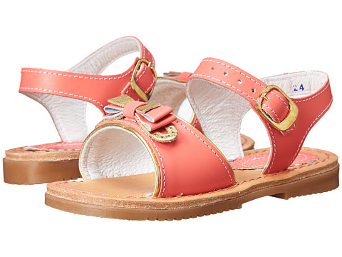 Kid Express - Lina (Toddler/Little Kid/Big Kid) (Coral Leather) Girls Shoes