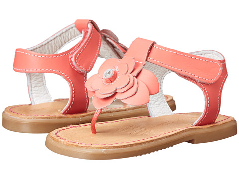 Kid Express - Coraline (Infant/Toddler) (Coral Leather) Girls Shoes