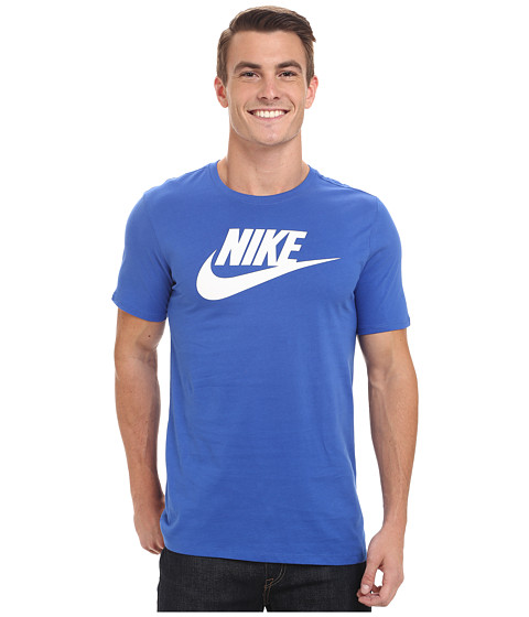 Nike - Futura Icon S/S Tee (Game Royal/White) Men's T Shirt
