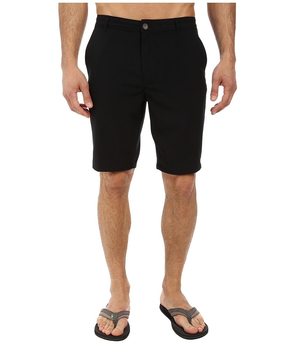 Reef - Warm Water 4 Walkshorts (Black) Men's Shorts