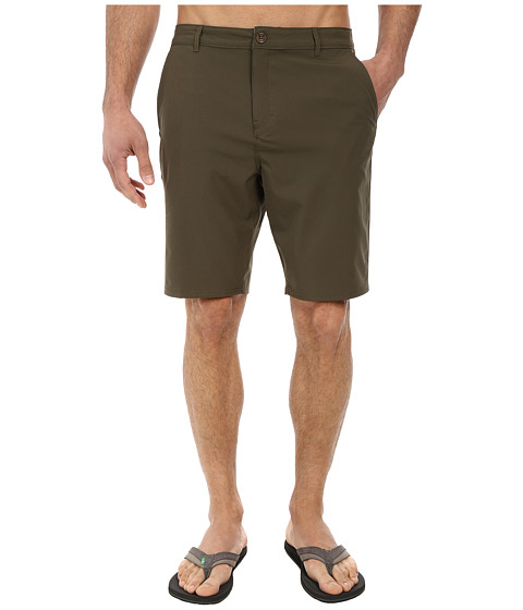 Reef - Warm Water 4 Walkshorts (Olive) Men