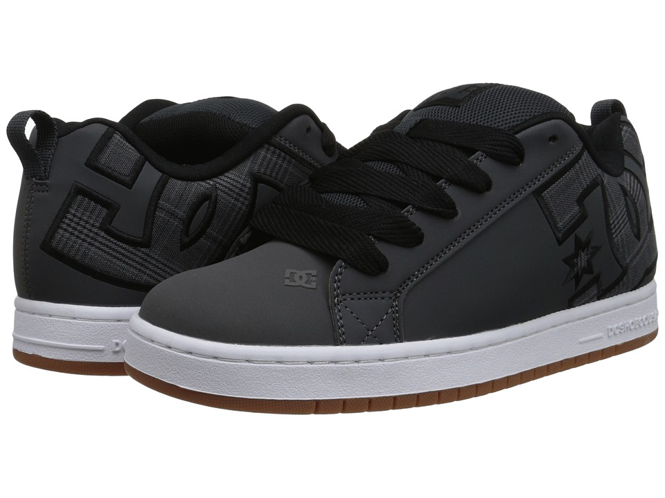 DC - Court Graffik SE (Grey/Black) Men's Skate Shoes