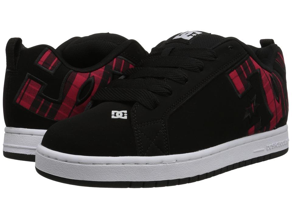 DC - Court Graffik SE (Black Plaid) Men's Skate Shoes