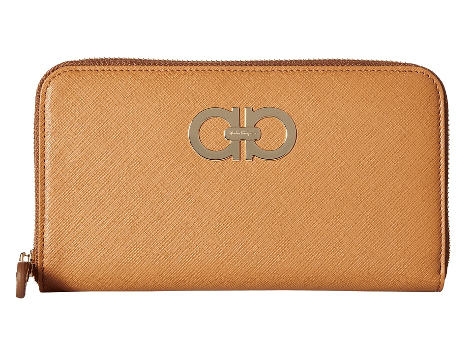 Salvatore Ferragamo - B300 Gancini Icona Wallet (Sienne) Wallet Handbags