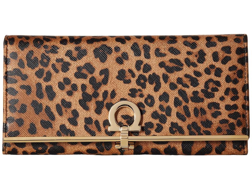 Salvatore Ferragamo - 22C355 Gancini Continental Wallet (Cacao) Wallet Handbags