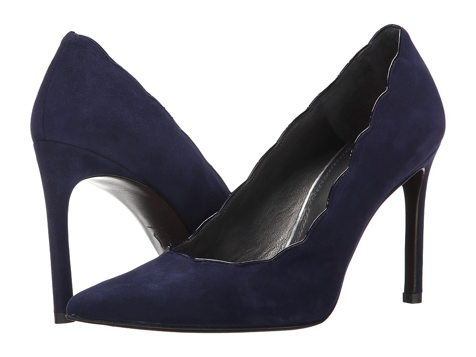 Stuart Weitzman - Scallopfine (Nice Blue Suede) High Heels