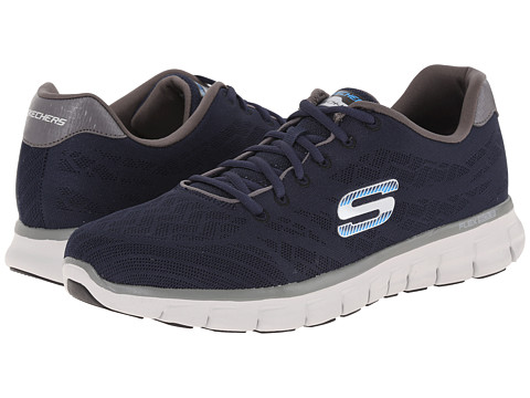 SKECHERS - Synergy Fine Tune (Navy/Gray) Men's Lace up casual Shoes