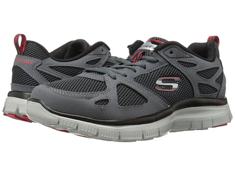 SKECHERS - Flex Advantage First Team (Charcoal/Red) Men