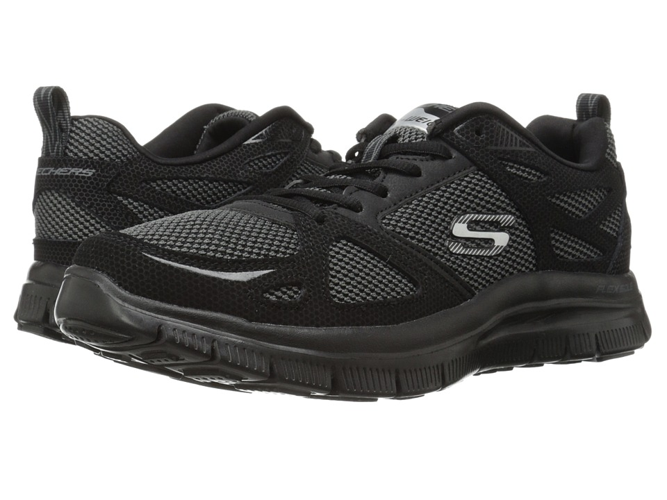 SKECHERS - Flex Advantage First Team (Black) Men's Slip on Shoes