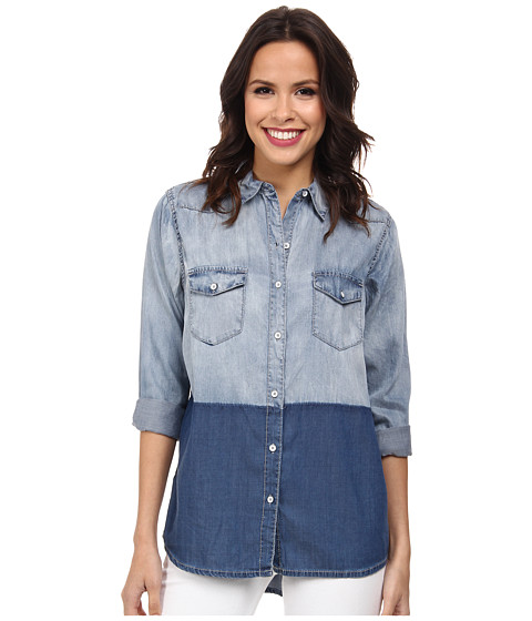 DKNY Jeans - Oversize Denim Shirt (Medium Indigo) Women