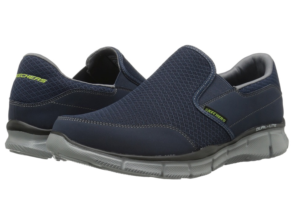 SKECHERS - Equalizer Persistent (Navy/Gray) Men's Slip on Shoes