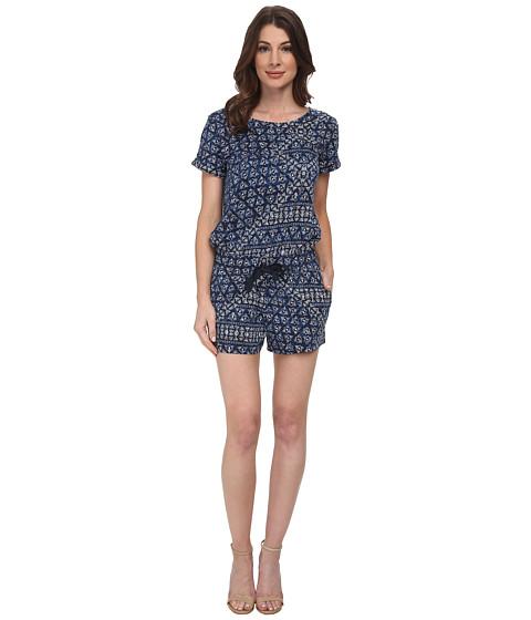 DKNY Jeans - Batik Print Romper in Mood Indigo (Mood Indigo) Women
