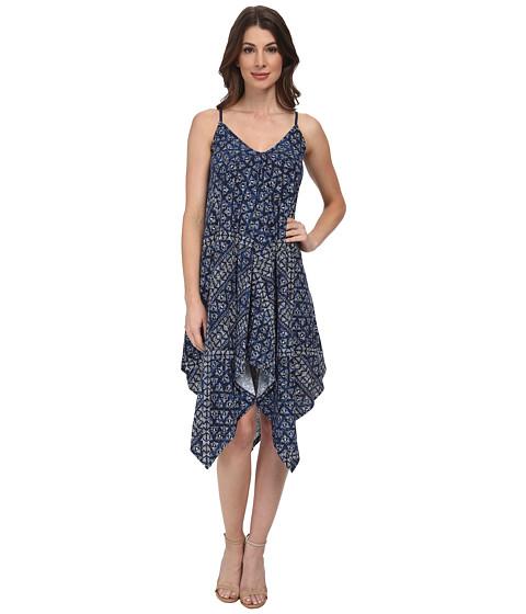 DKNY Jeans - Batik Print Dress (Mood Indigo) Women