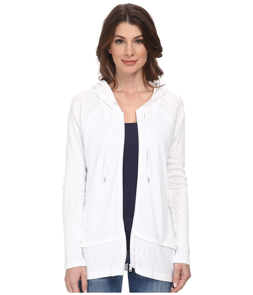 DKNY Jeans - Zip Front Hoodie (White) Women
