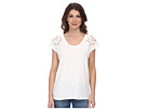 DKNY Jeans Embroidered Eyelet Tee