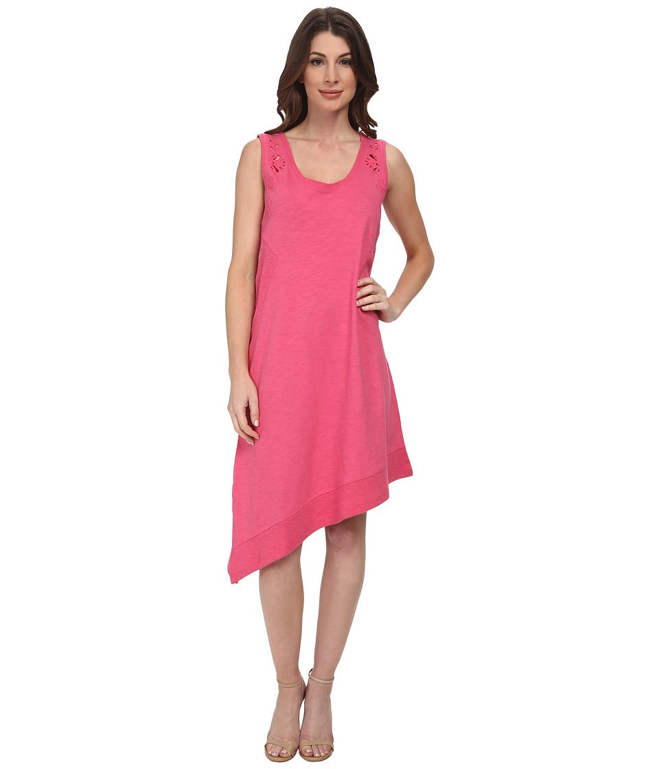 DKNY Jeans - Embroidered Eyelet Dress (Azalea) Women's Dress