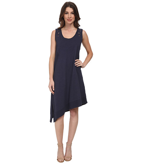 DKNY Jeans - Embroidered Eyelet Dress (Mood Indigo) Women