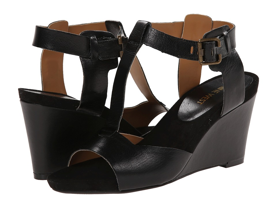 Nine West - Eratic (Black Leather) Women's Sandals