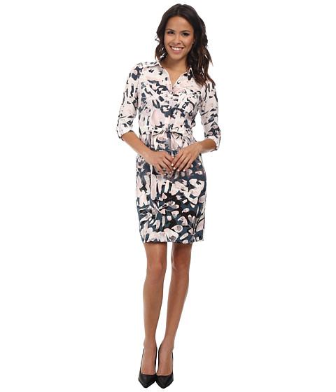 NYDJ - Windblown Petal Shirt Dress (Multi) Women's Dress