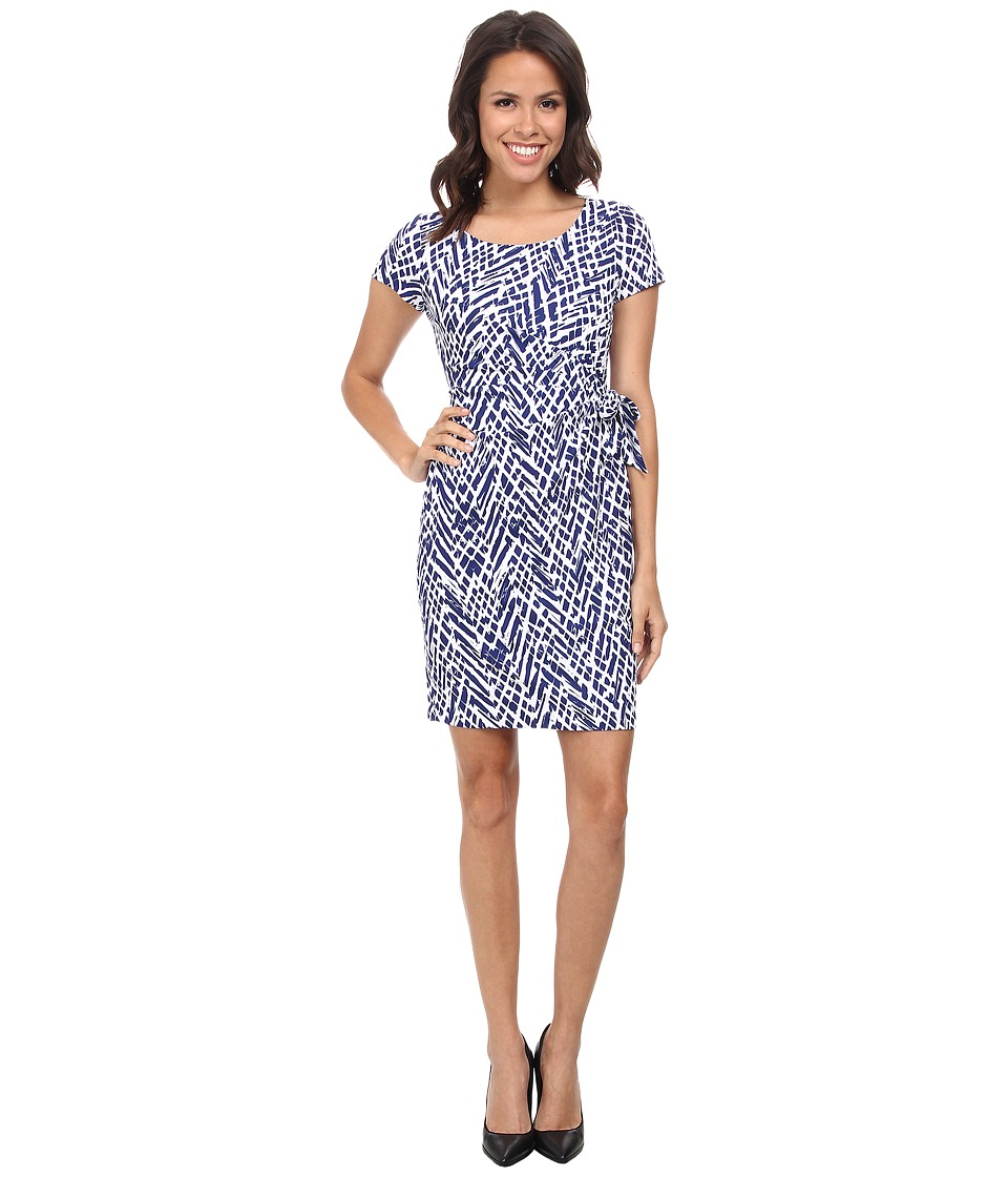 NYDJ - Veronica Reptile Chevron Tie Dress (Ultramarine) Women's Dress