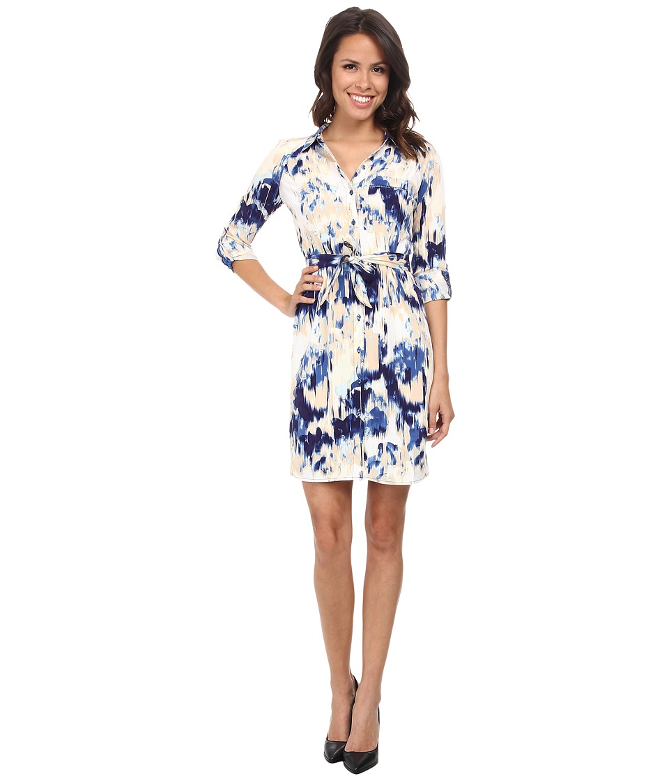 NYDJ - Kelsie Vintage Mosaic Shirt Dress (Ultramarine) Women's Dress
