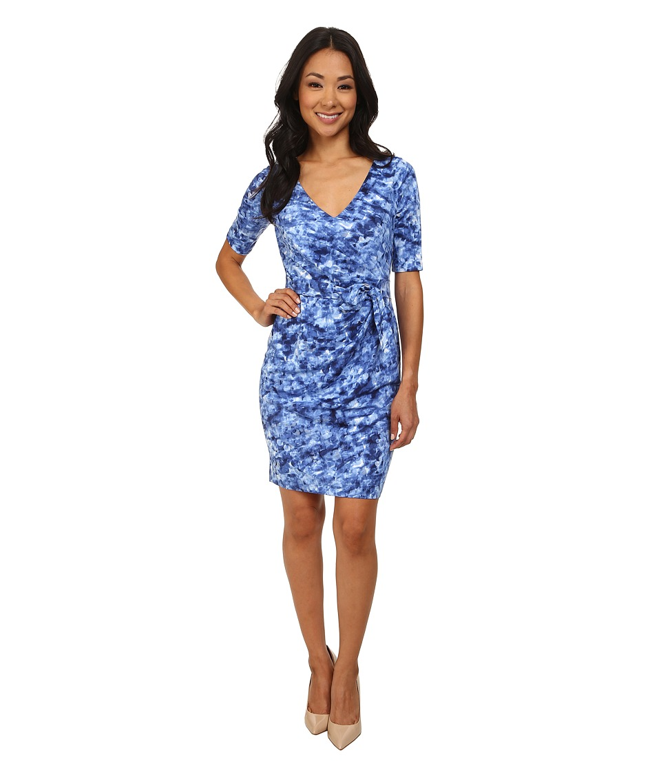 NYDJ - Daniella Rain Drop Tie Dress (Ultramarine) Women's Dress
