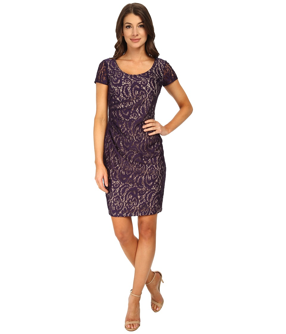 NYDJ - All Over Lace Dress (Midnight) Women's Dress