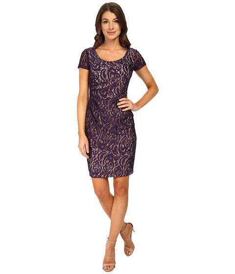 NYDJ - All Over Lace Dress (Midnight) Women's Dress