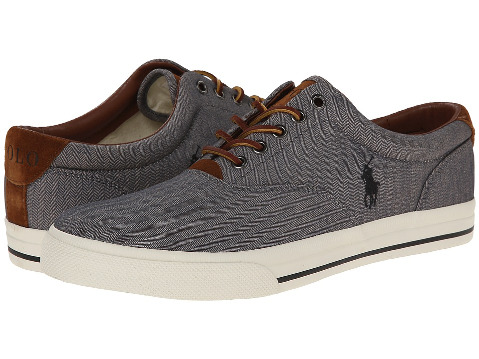 Polo Ralph Lauren - Vaughn (Grey Chambray Herringbone/Sport Suede) Men's Lace up casual Shoes