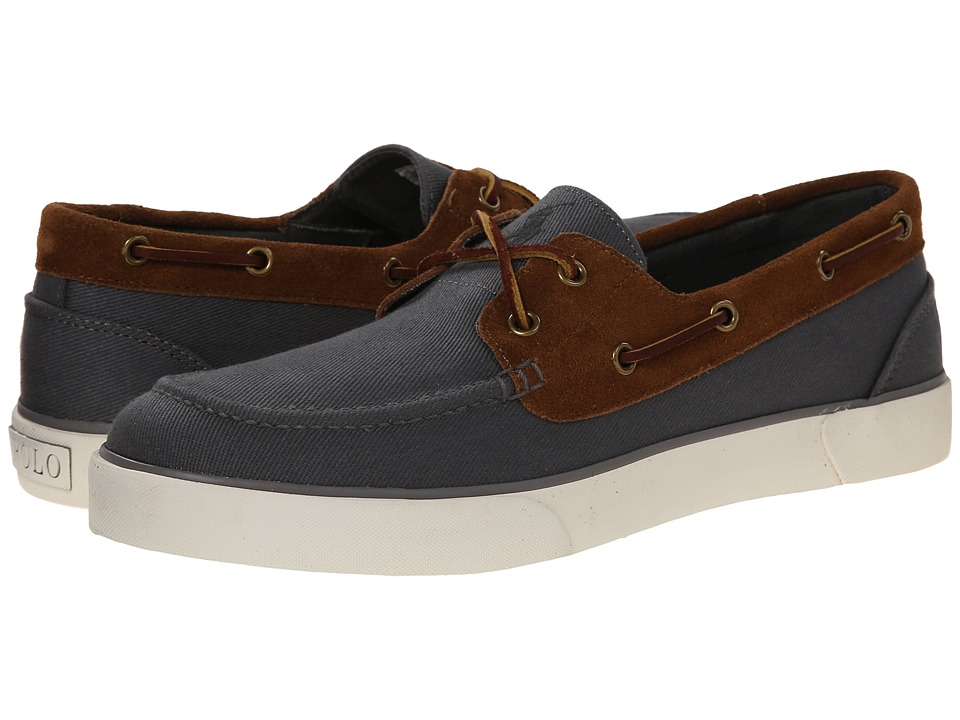 Polo Ralph Lauren - Rylander (Charcoal Grey/New Snuff Brushed Twill/Sport Suede) Men's Shoes